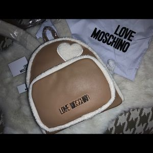 Love Moschino with Heart Shape Design Back Pack